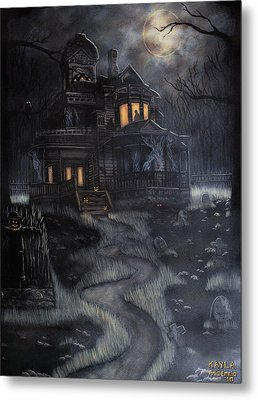Haunted House Metal Print by Kayla Ascencio