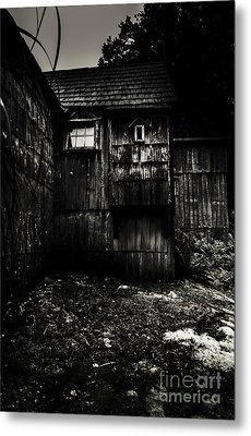 Haunted Outback Cabin In Dark Night Woods Metal Print by Jorgo Photography - Wall Art Gallery