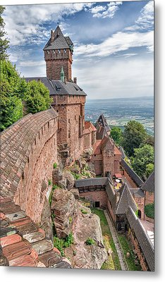 Metal Print featuring the photograph Haut-koenigsbourg by Alan Toepfer