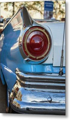 Metal Print featuring the photograph Havana Cuba Vintage Car Tail Light by Joan Carroll