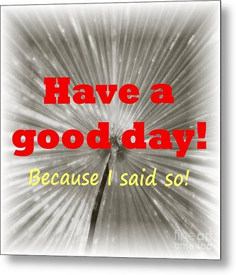 Have A Good Day- It's An Order Metal Print by Barbie Corbett-Newmin