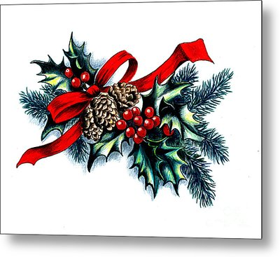 Have A Holly Holly Christmas Metal Print by Tobi Czumak