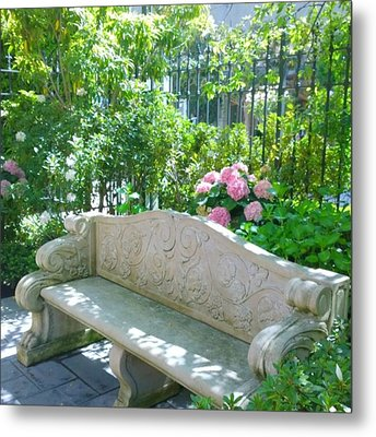 Have A Seat In My Secret Garden. #patio Metal Print by Shari Warren