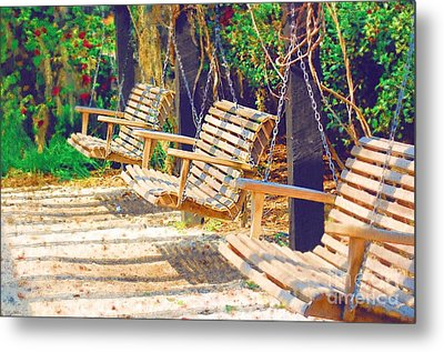 Metal Print featuring the photograph Have A Seat Relax by Donna Bentley