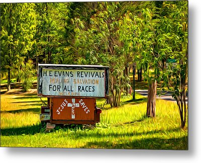Have Miracle - Will Travel. Paint Metal Print by Steve Harrington