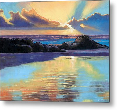 Havik Beach Sunset Metal Print by Janet King