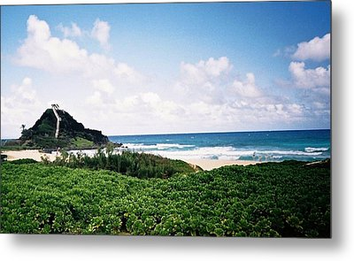 Hawaii Beach Scene Metal Print by Judyann Matthews