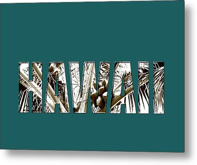 Metal Print featuring the photograph Hawaii Coconut Palm Type by Kerri Ligatich