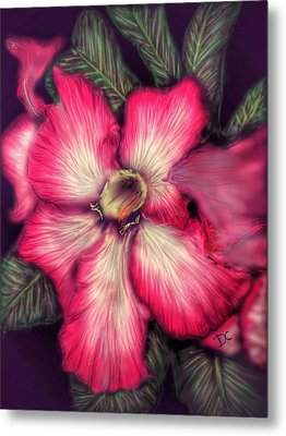 Metal Print featuring the digital art Hawaii Flower by Darren Cannell