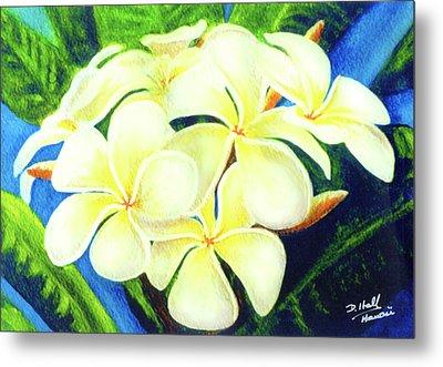 Hawaii Tropical Plumeria #158 Metal Print by Donald k Hall