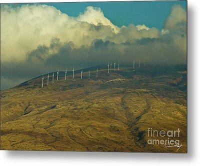 Hawaii Windmills On Maui One Metal Print by Vance Fox