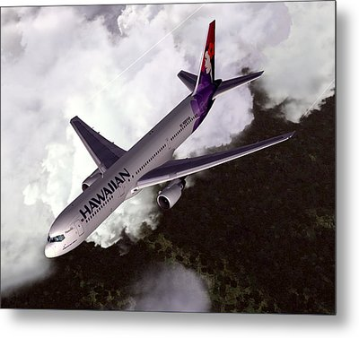 Hawaiian Airlines Boeing 767-300er Metal Print by Mike Ray