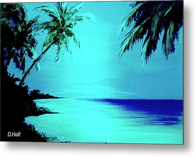 Hawaiian Beach Art Painting #188 Metal Print by Donald k Hall