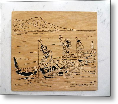 Hawaiian Canoe Metal Print by Kris Martinson