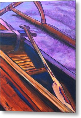 Hawaiian Canoe Metal Print by Marionette Taboniar