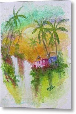 Hawaiian Homestead In The Valley #460 Metal Print by Donald k Hall