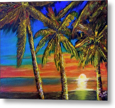 Hawaiian Moon #404 Metal Print by Donald k Hall