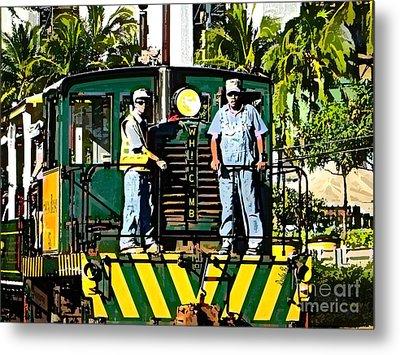 Hawaiian Railway Metal Print