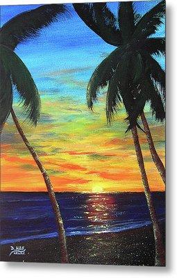 Hawaiian Sunset #340 Metal Print by Donald k Hall