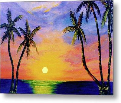 Hawaiian Sunset #36 Metal Print by Donald k Hall