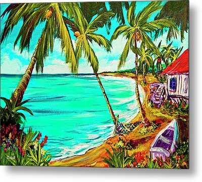 Hawaiian Tropical Beach #355 Metal Print by Donald k Hall