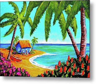 Hawaiian Tropical Beach  #364 Metal Print by Donald k Hall