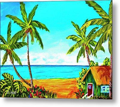 Hawaiian Tropical Beach #366  Metal Print by Donald k Hall