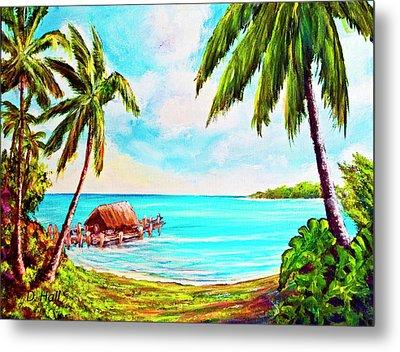 Hawaiian Tropical Beach #388 Metal Print by Donald k Hall