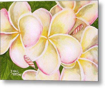 Hawaiian Tropical Plumeria Flower #483 Metal Print by Donald k Hall