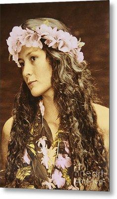 Hawaiian Wahine Metal Print by Himani - Printscapes