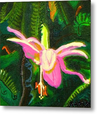 Metal Print featuring the painting Hawaiian Wildflower by Angela Annas