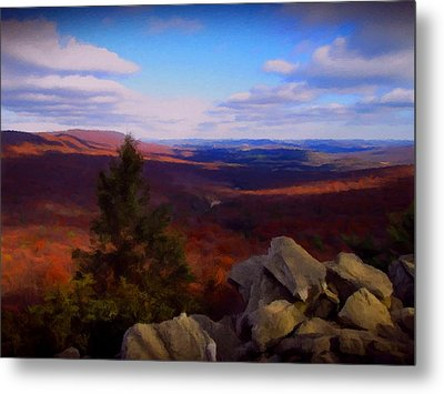 Hawk Mountain Pennsylvania Metal Print by David Dehner