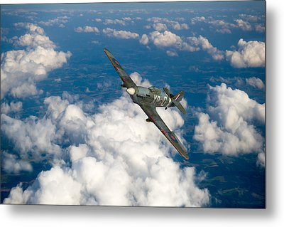 Metal Print featuring the photograph Hawker Hurricane IIb Of 174 Squadron by Gary Eason