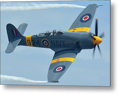 Hawker Sea Fury T20 N924g Chino California April 30 2016 Metal Print