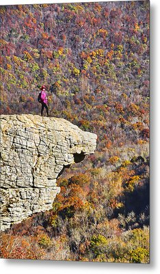 Hawksbill Crag In Autumn Metal Print by Dennis Cox WorldViews