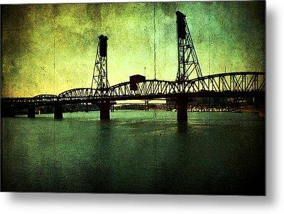 Hawthorne Bridge Metal Print by Cathie Tyler