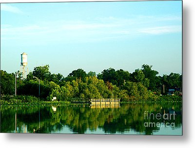 Hawthorne With Water Tower Metal Print