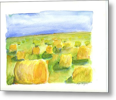 Hay Bales Metal Print by Rodger Ellingson