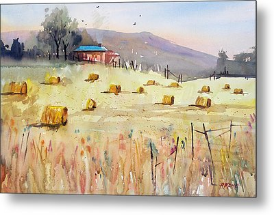 Hay Bales Metal Print by Ryan Radke