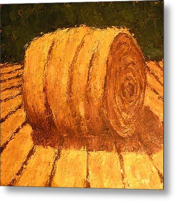 Haybale Metal Print by Jaylynn Johnson