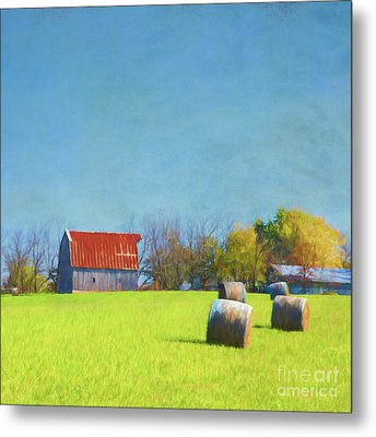 Metal Print featuring the photograph Haystacks by Elena Nosyreva