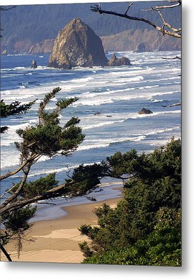 Haystak Rock Through The Trees Metal Print by Marty Koch