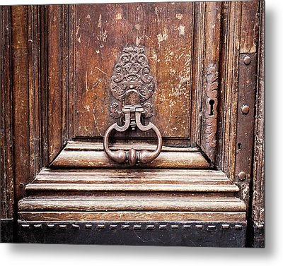 Metal Print featuring the photograph Hazel - Paris Door Photography by Melanie Alexandra Price