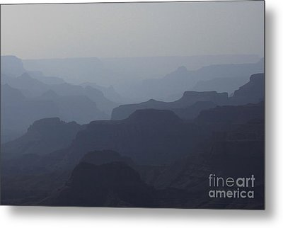 Metal Print featuring the photograph Hazy Canyon by Erica Hanel
