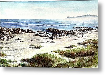 Metal Print featuring the painting Hazy Coastline by Heidi Kriel
