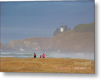 Hazy Day At The Beach Metal Print
