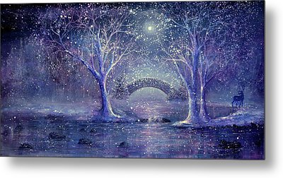 Hazy Shade Of Winter Metal Print by Ann Marie Bone