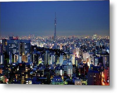 Hazy Skyline With Tokyo Sky Tree Metal Print by Hidehiko Sakashita