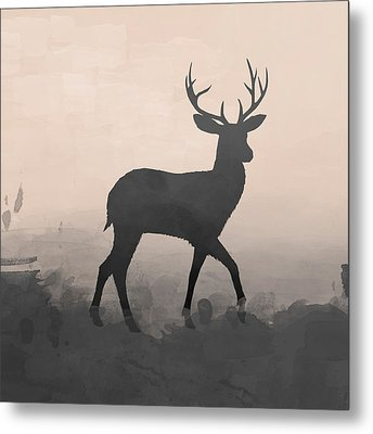 Hazy Stag 1 Metal Print by Amanda Lakey