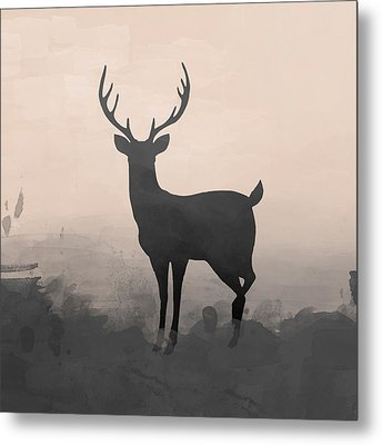 Hazy Stag 2 Metal Print by Amanda Lakey